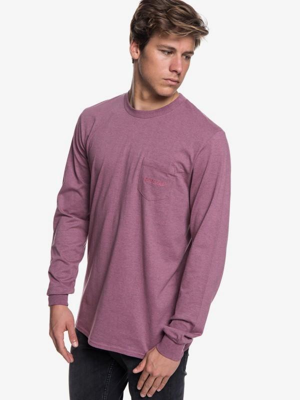 0 The Stitch Up - Camiseta de manga larga para Hombre Rosa EQYZT05022 Quiksilver