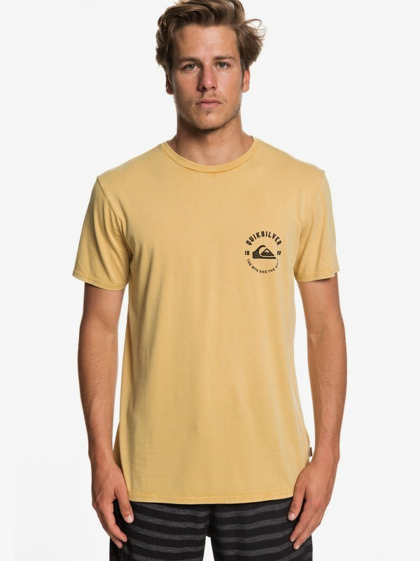 0 Skulled - Camiseta para Hombre Amarillo EQYZT05212 Quiksilver
