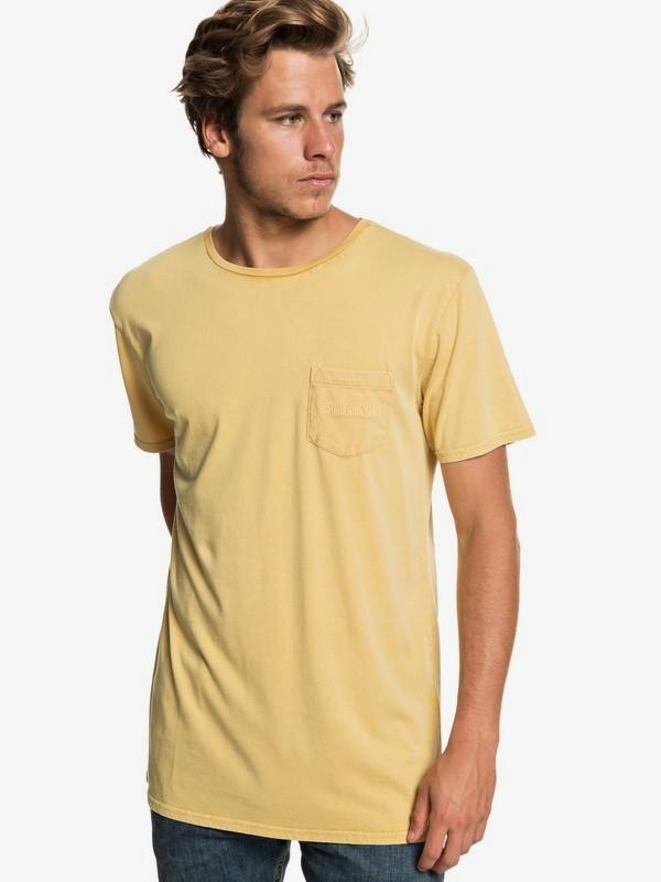 0 False Face Society - Camiseta con Bolsillo para Hombre Amarillo EQYZT05216 Quiksilver