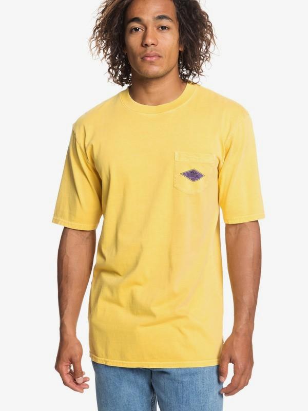 0 Ordinary Madness - Camiseta con Bolsillo para Hombre Naranja EQYZT05248 Quiksilver
