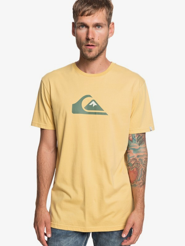 0 M And W - T-Shirt for Men Yellow EQYZT05262 Quiksilver