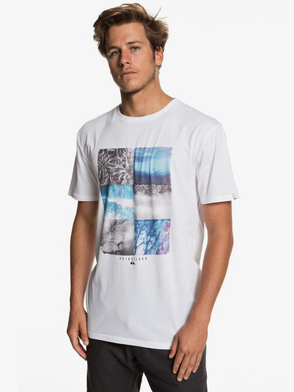 0 Photo Fun - Camiseta para Hombre Blanco EQYZT05266 Quiksilver
