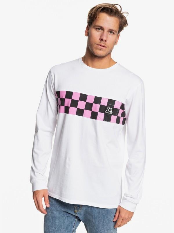 0 Black Ball - Camiseta de Manga Larga para Hombre Blanco EQYZT05348 Quiksilver