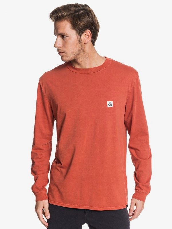 0 In The Middle - Long Sleeve T-Shirt for Men Pink EQYZT05442 Quiksilver