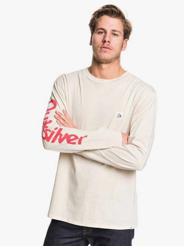 0 In The Middle - Long Sleeve T-Shirt for Men Beige EQYZT05442 Quiksilver