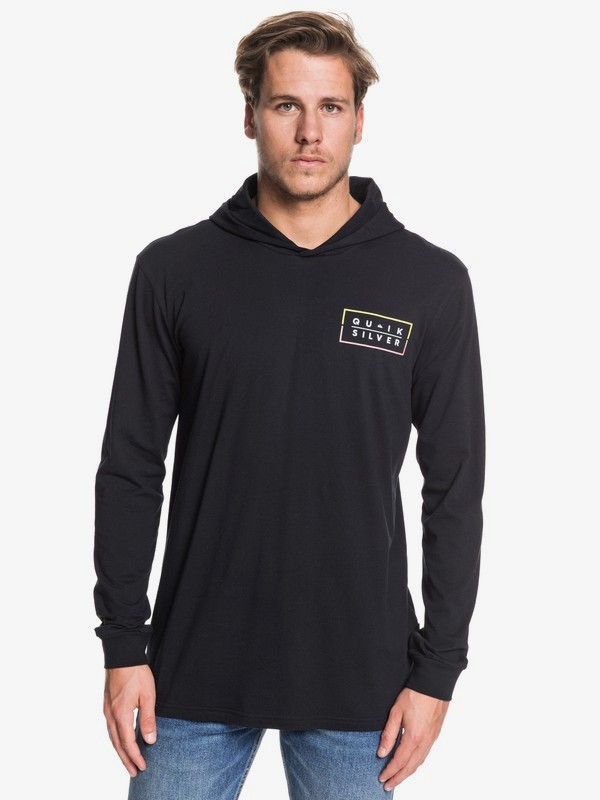 Clued Up - Hooded Long Sleeve T-Shirt for Men EQYZT05451