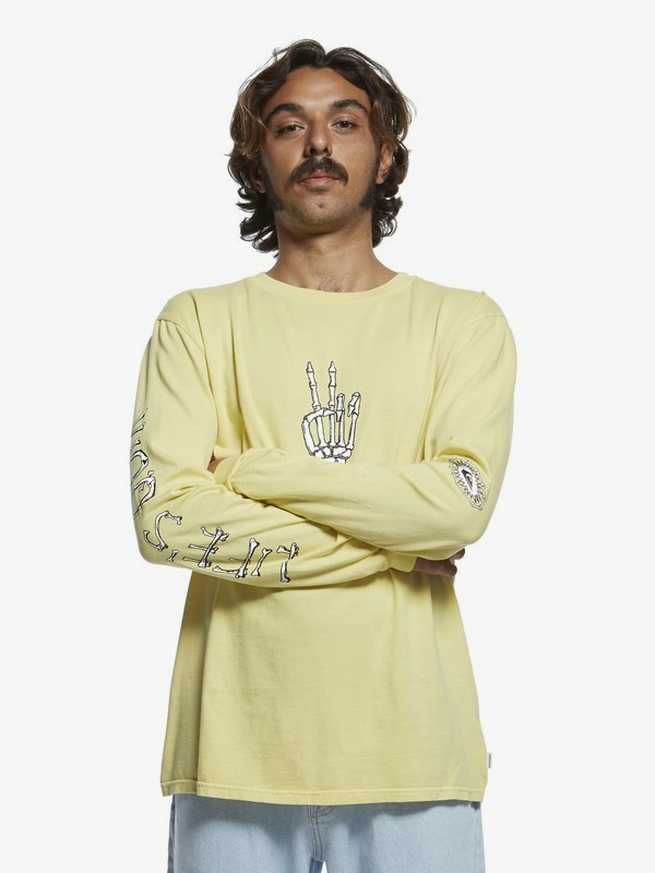 0 Originals Lifes Quik - Long Sleeve T-Shirt for Men Yellow EQYZT05471 Quiksilver