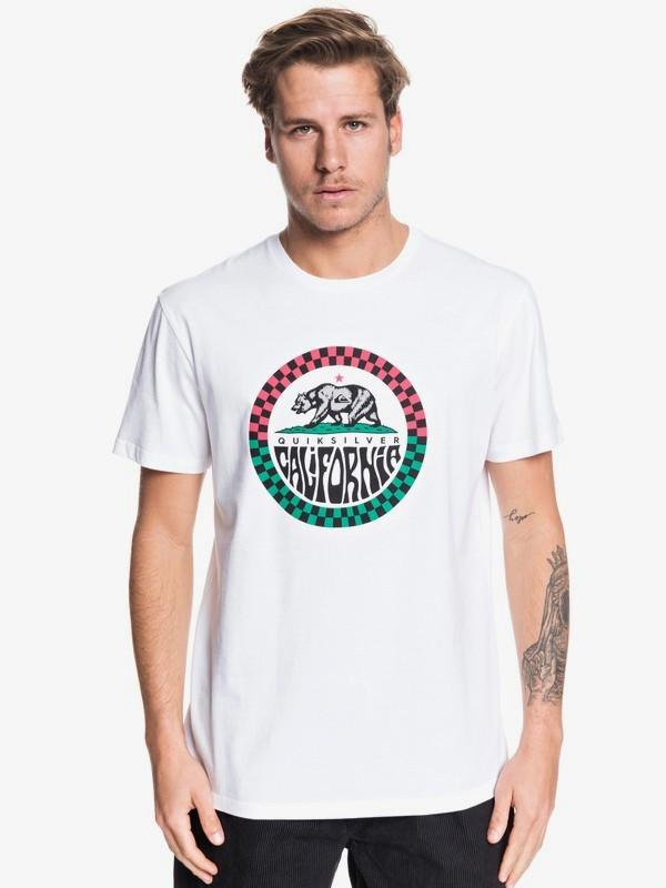 0 California - T-shirt pour Homme Blanc EQYZT05530 Quiksilver