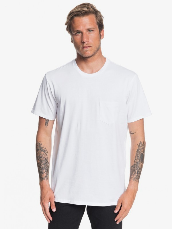 0 KWAK ON THE ROCKS SS TEE Blanco EQYZT05533 Quiksilver
