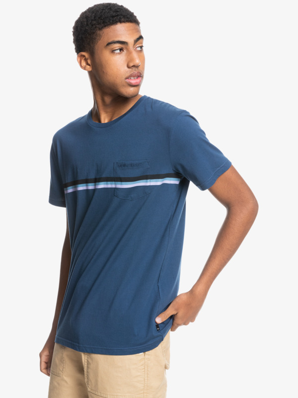 Basic Stripe - Pocket T-Shirt for Men  EQYZT06438