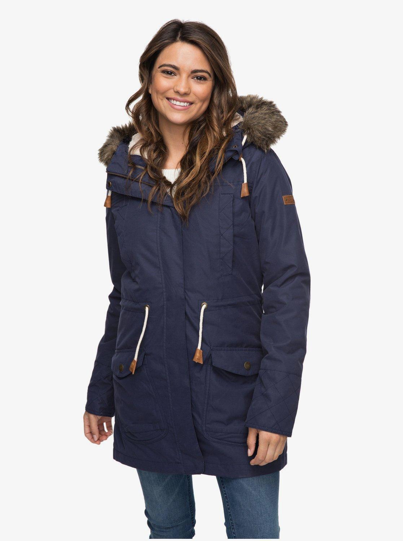 am besten online heiß-verkaufende Mode vollständig in den Spezifikationen Amy - Wasserdichte Parka Jacke für Frauen ERJJK03184   Roxy