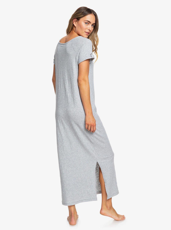 lowest price 2b758 8f1d9 Neptune - Kurzärmliges Maxi-T-Shirt-Kleid mit Reißverschluss vorne für  Frauen