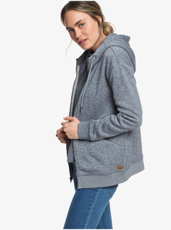 mignonne conception de la variété femme Adventure Calling - Sweat à capuche long zippé pour Femme