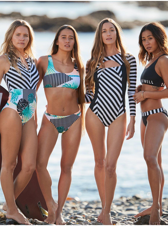 Outlet zu verkaufen großer Diskontverkauf Preis POP Surf - Langärmliger Badeanzug mit UPF 50 für Frauen ...