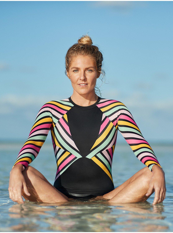 Größe 7 Neue Produkte für die ganze Familie POP Surf - Langärmliger Rashguard-Einteiler mit Reißverschluss am Rücken  für Frauen