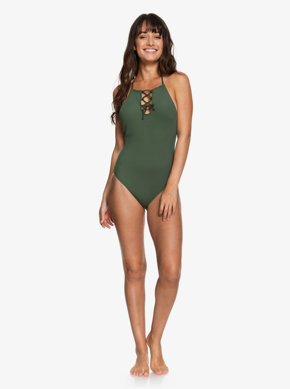 Roxy Womens Goldy Textured One Piece Swimsuit