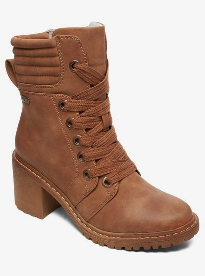 Eddy Heeled Lace-Up Boots ARJB700631   Roxy