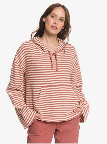 Roxy Womens Get Casual Oversized Cropped Hoodie Arjft03612