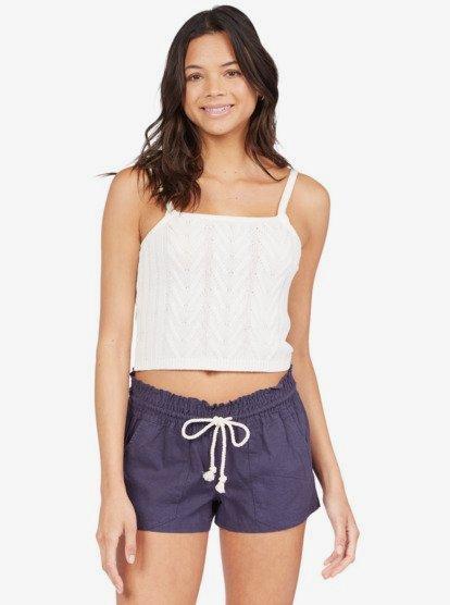 록 반바지 Roxy Oceanside Linen Shorts,MOOD INDIGO bsp0