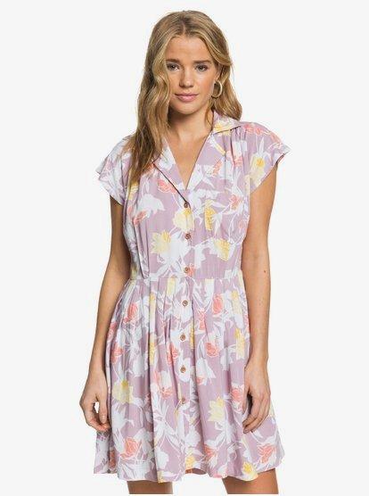 Sunny Days Ahead Robe manches courtes plissée pour Femme