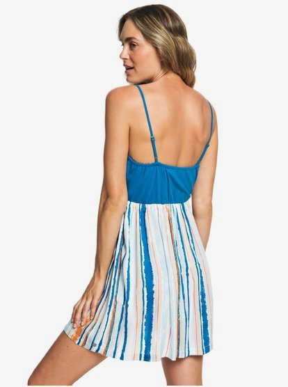 ROXY Womens Floral Offering Strappy Dress