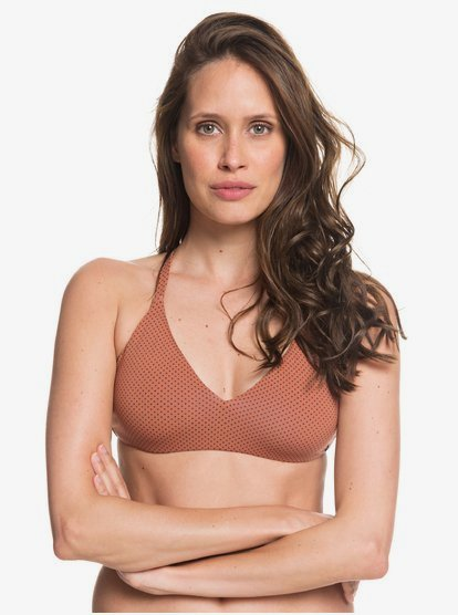 Roxy Womens Printed Beach Classics Fixed Tri Bikini Top