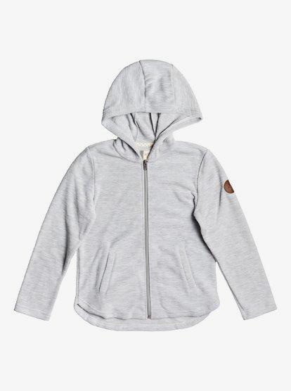 Roxy Girls Hooded Zip Up Fleece Sweatshirt