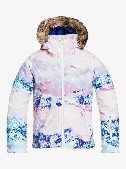Bleu Fille 8-16 Ans Roxy Jet Ski Embossed Veste de Snow