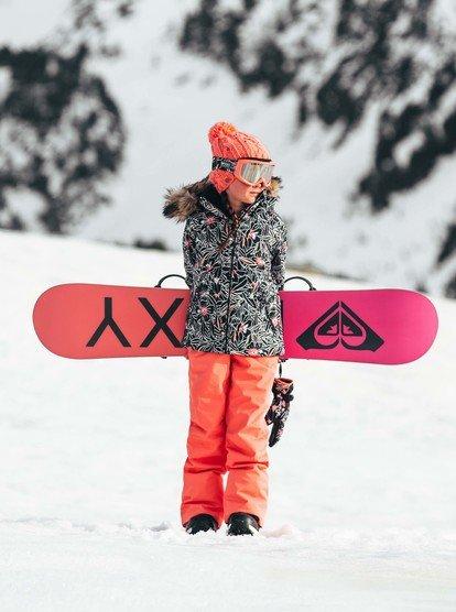 10//M Roxy Little Non Stop Girl Snow Bib Overalls Four Leaf Clover