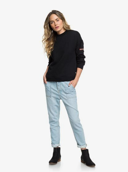 Crazy Night Relaxed Fit Jeans voor Dames ERJDP03195   Roxy