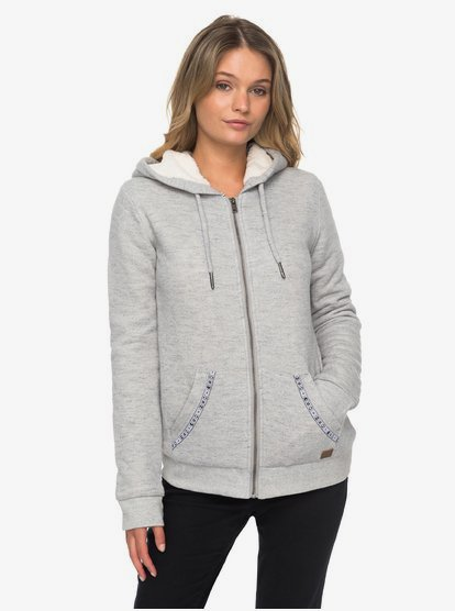 Roxy Womens Trippin Sherpa Zip Up Fleece Sweatshirt