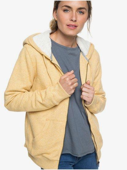 Roxy Trippin Sherpa Veste à capuche pour Femme Beige
