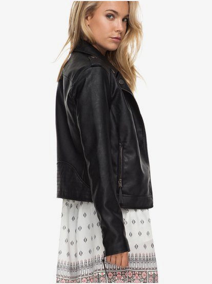 ROXY Womens Midnight Ride Faux Leather Jacket