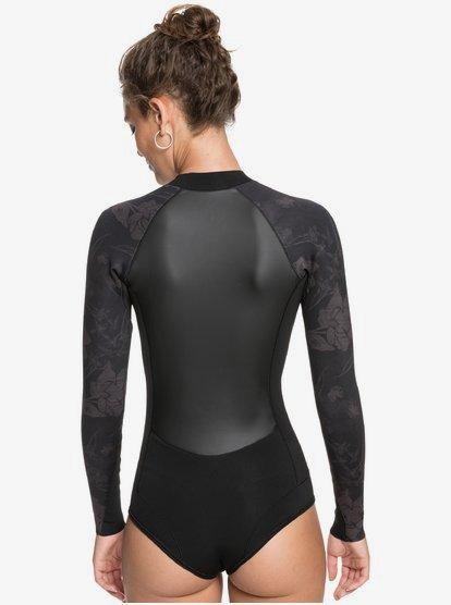 Springsuit Coupe Bikini /à Manches Longues avec Zip Avant pour Femme Roxy 1mm Satin