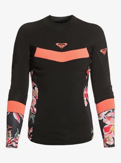 록시 웻수트 Roxy 1mm Syncro Wetsuit Jacket,BLACK/BRIGHT CORAL xkkm