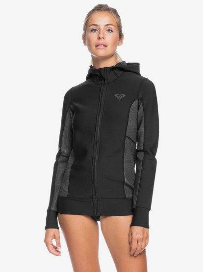 록시 웻수트 Roxy 1mm Syncro Hooded Wetsuit Jacket,BLACK/JET BLACK xkkk