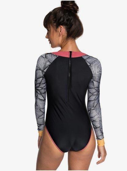 UV Sun Protection Rash Guard Bathing Suit ACSUSS Kids Girls One Piece Jumpsuit Swimsuit Swimwear Long Sleeves UPF 50