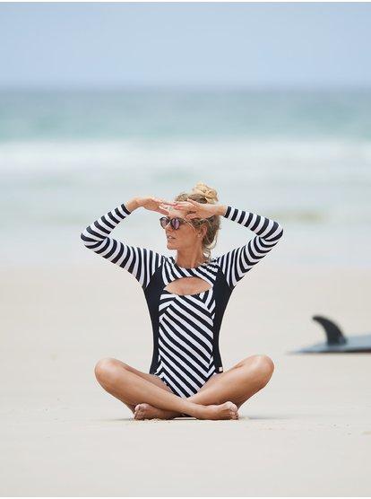 LGQ Femmes Sport One Piece Beach Maillot De Bain Femmes Manches Longues Surf Plong/ée Maillot De Bain Bikini,Style 1,S