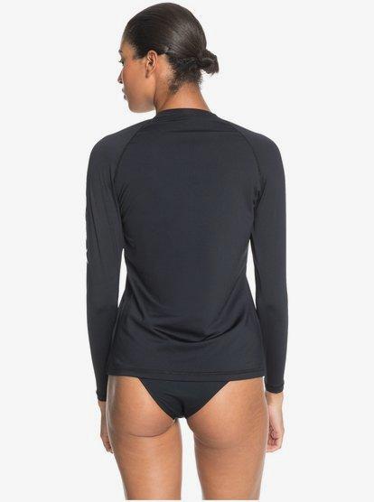 vestibilit/à Aderente vestibilit/à Comoda Roxy Girls Rash Senza Maniche a Manica Lunga con Risvolto e Maniche Lunghe Protezione Solare UPF 50