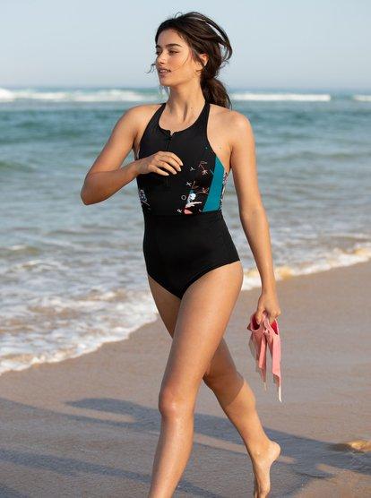 Roxy Womens Fitness One Piece Swimsuit