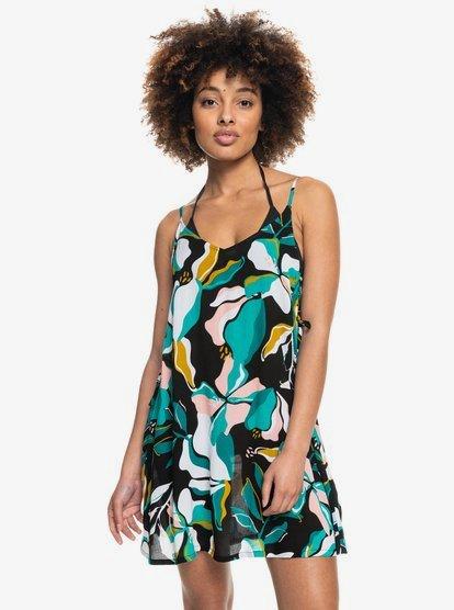 록시 커버업 원피스 Roxy Beachy Vibes Beach Dress,ANTHRACITE PARADISO S kvj8