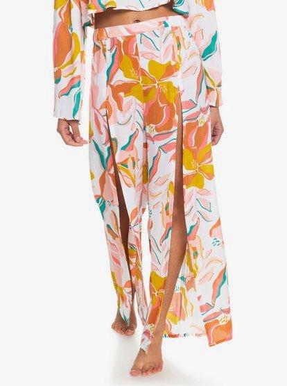 록시 Roxy Saturday Best Beach Pants,BRIGHT WHITE PARADISO OPT1 wbb2