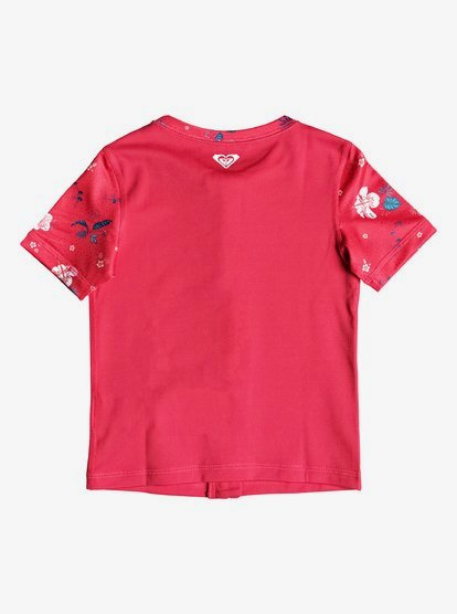 Roxy Girls Shortbreak Short Sleeve Zip-up Rashguard ERLWR03076