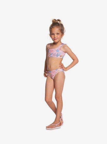 Roxy Girls Little Walea Heart Crop Top Swimsuit Set