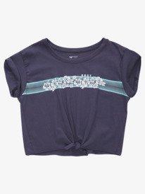 Retro Hibiscus Stripe - Tie-Front T-Shirt for Girls 4-16  ARGZT03662