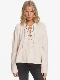 Get Comfy - Lace Front Poncho Style Sweatshirt for Women  ARJFT03637