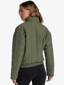 Rose Riviera - Quilted Bomber Jacket for Women  ARJJK03038