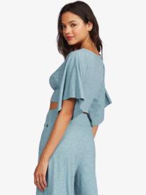 Loungin Away - Short Sleeve Crop Top for Women  ARJKT03295
