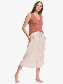 Drifting Along - Cropped Wide Leg Beach Pants for Women  ARJNP03140