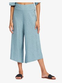Just Chill - Wide Leg Cropped Trousers for Women  ARJNP03187